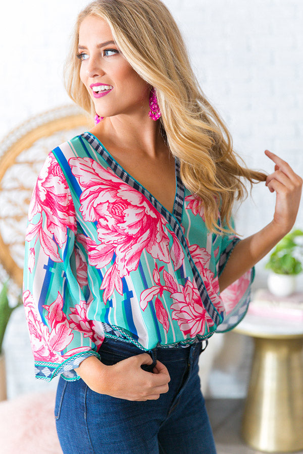 Juniper Floral Shift Top