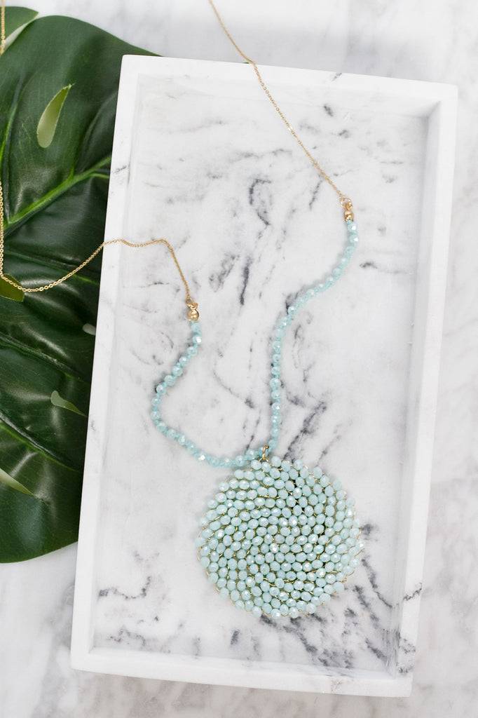 Jet Set Sparkle Necklace In Mint