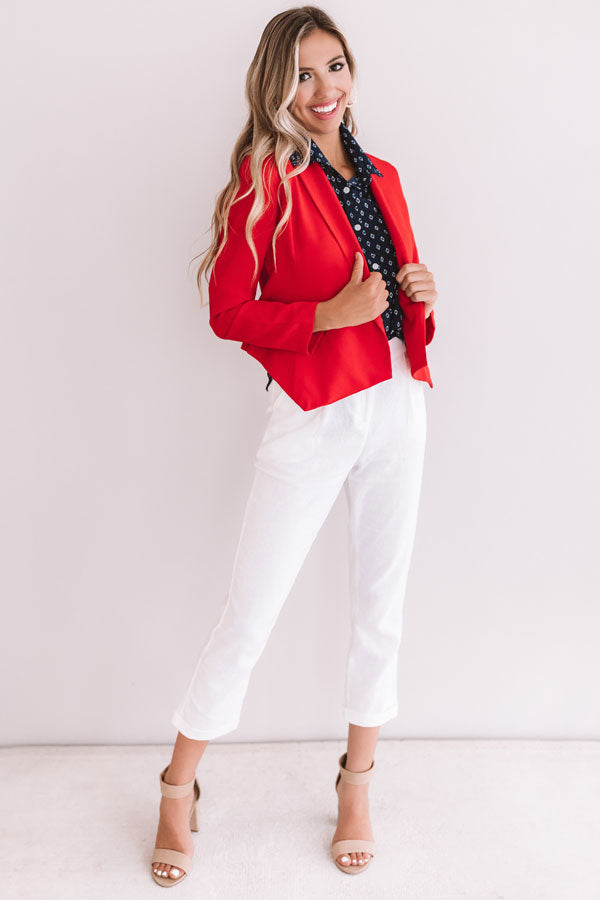 Fashion Week Blazer in Red