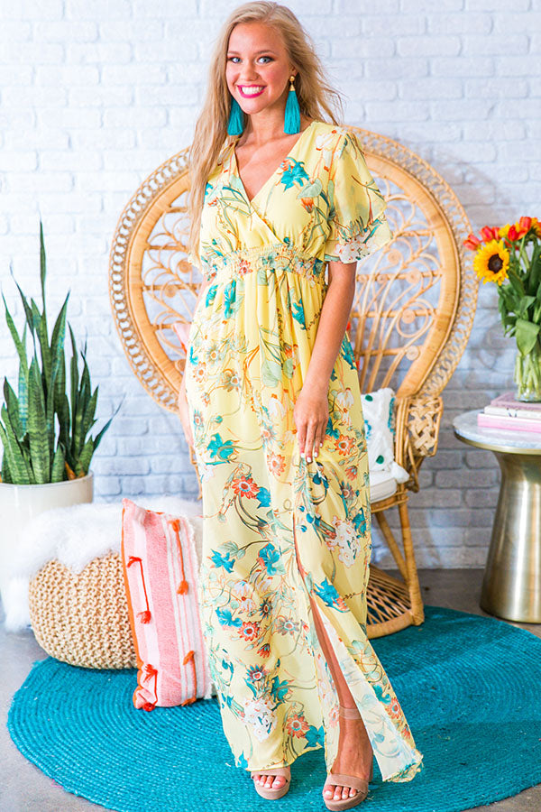 Garden Oasis Maxi in Yellow
