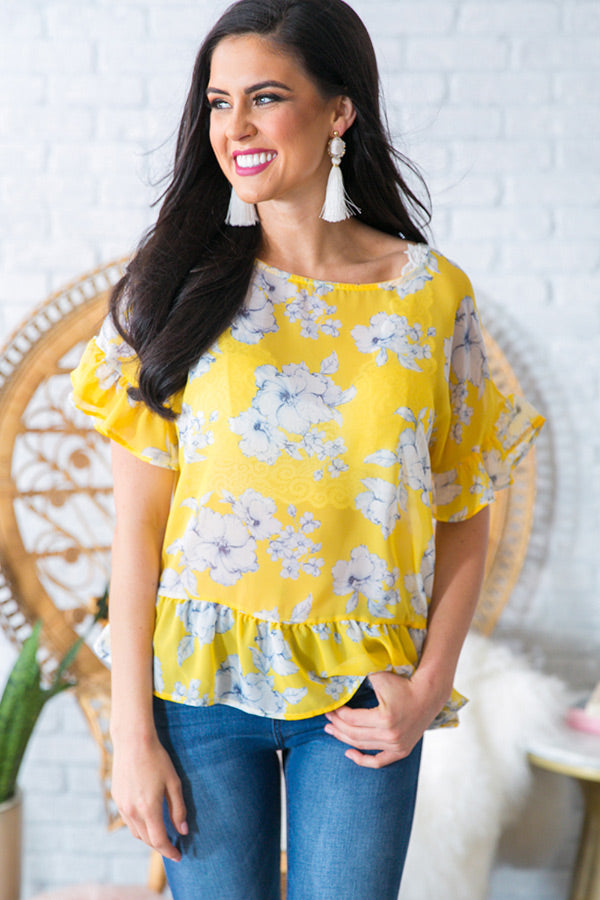 Rhythm and Bloom Shift Top