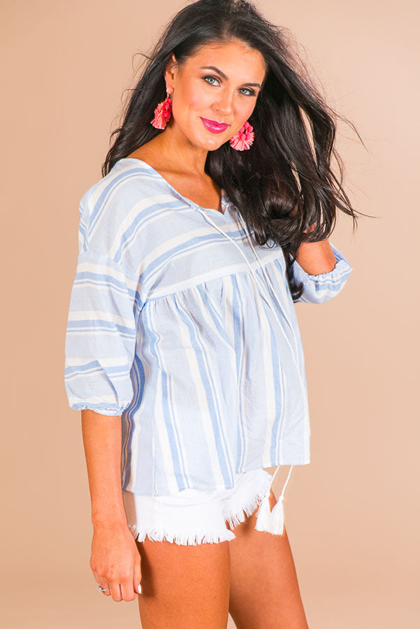 Mimosa Morning Stripe Top