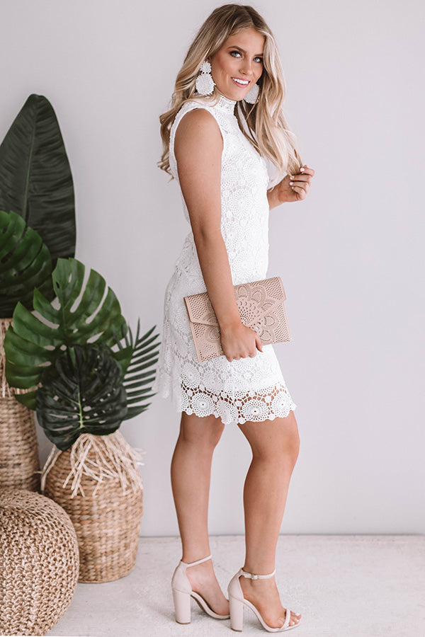 Soiree Sipping Crochet Dress