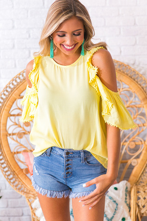 Fashion Week Shift Top in Yellow