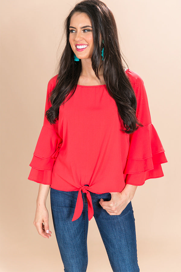 So Obsessed Shift Top in Coral