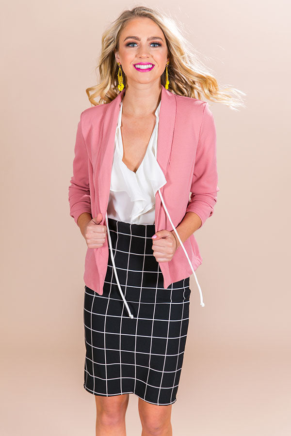Office Goals Blazer in Blush