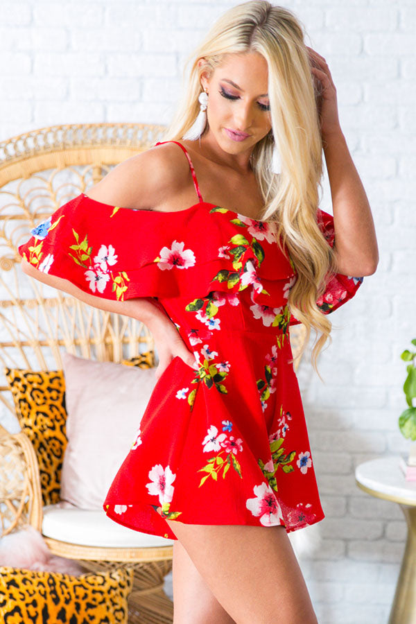 Park Ave. Pretty Floral Romper