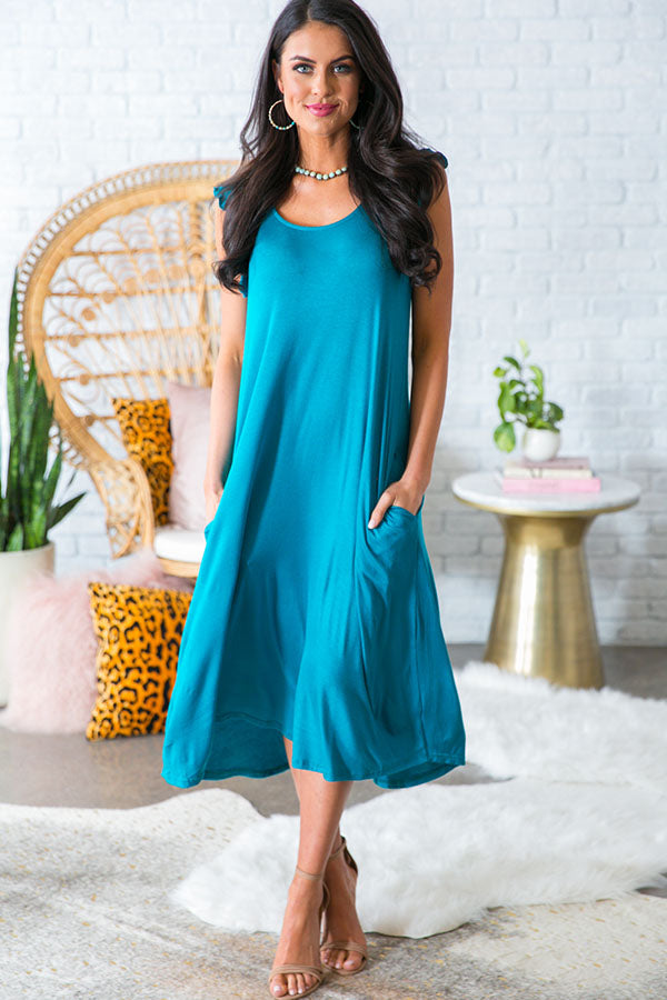 Beachside T-shirt Midi in Turquoise