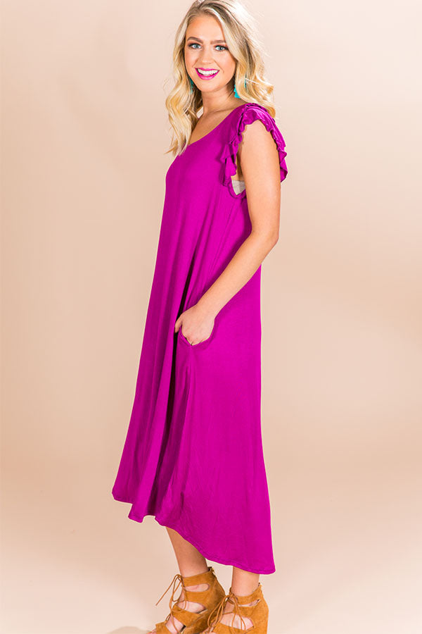 Beachside T-shirt Midi in Orchid