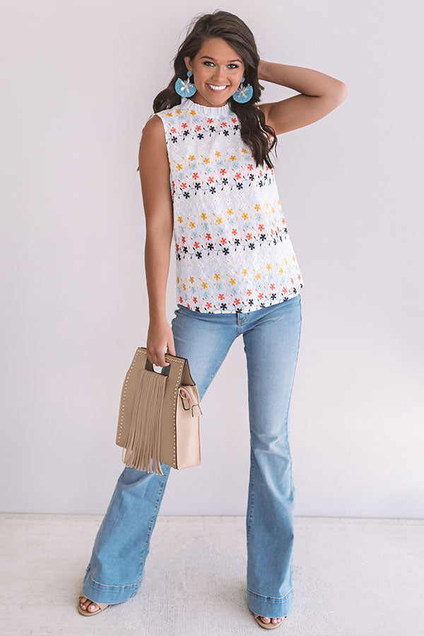 Let Love Bloom Embroidered Top