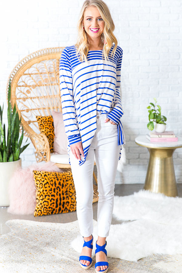 Cruise Liner Stripe Shift Top