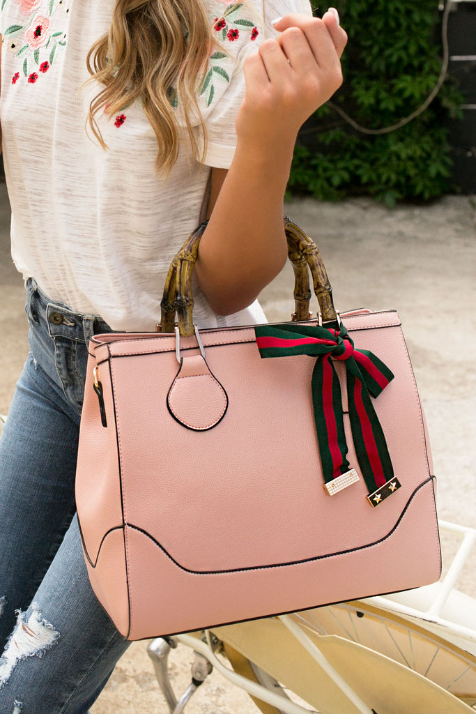 Shopping In Tribeca Tote in Pink