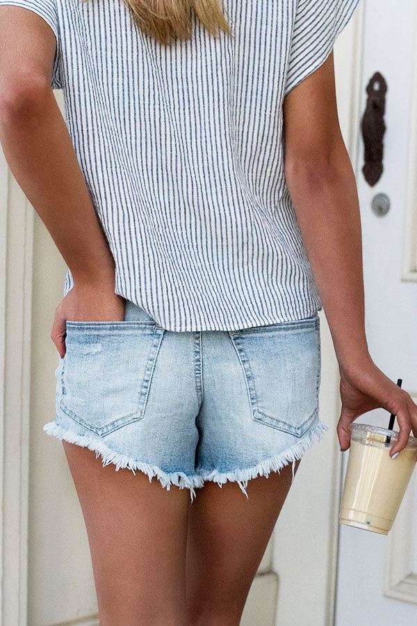 The Lively High Waist Distressed Shorts