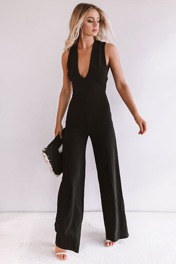 Live From The Red Carpet Jumpsuit in Black