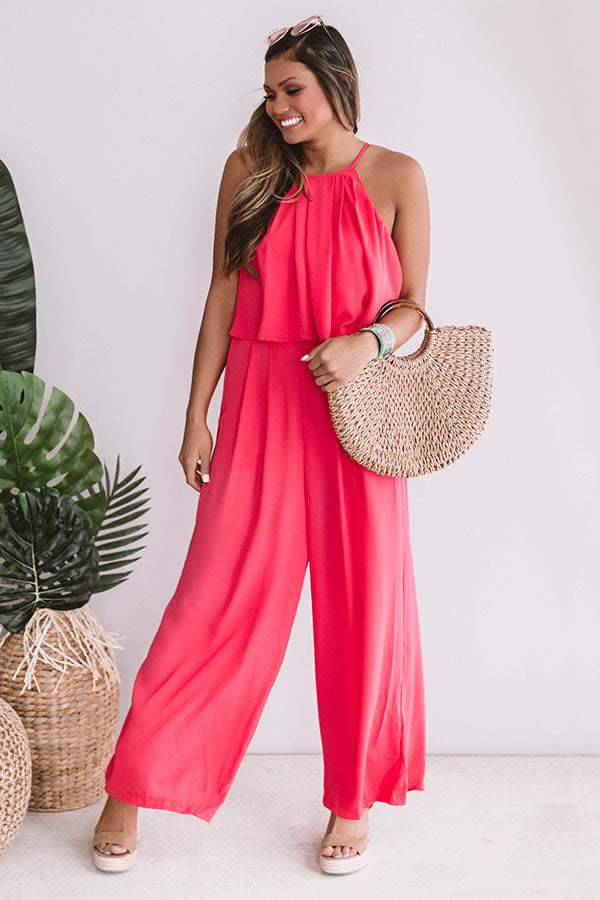 The Fashion Week Jumpsuit in Raspberry