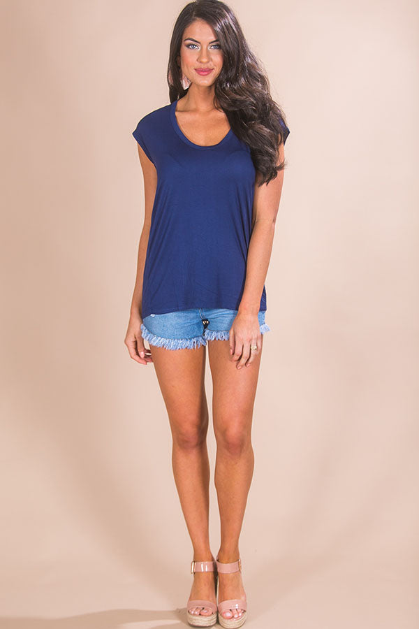 Margarita Babe Shift Tee in Navy
