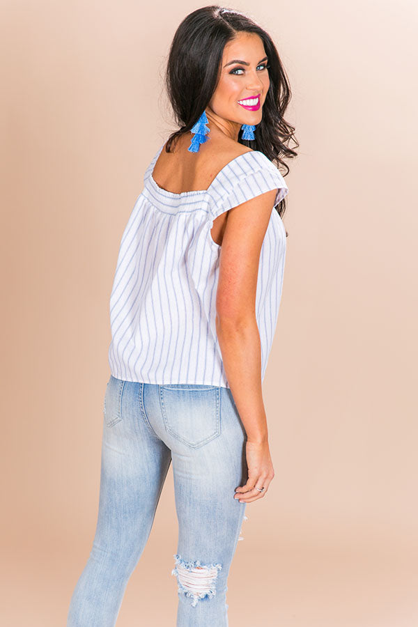 Seaside Vibes Stripe Shift Tank