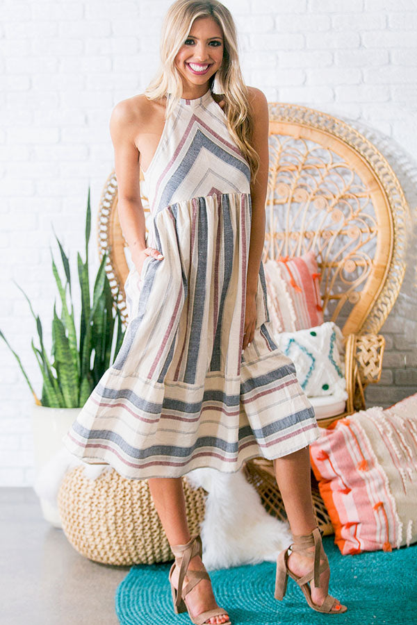 Nautical Breezy Midi Dress