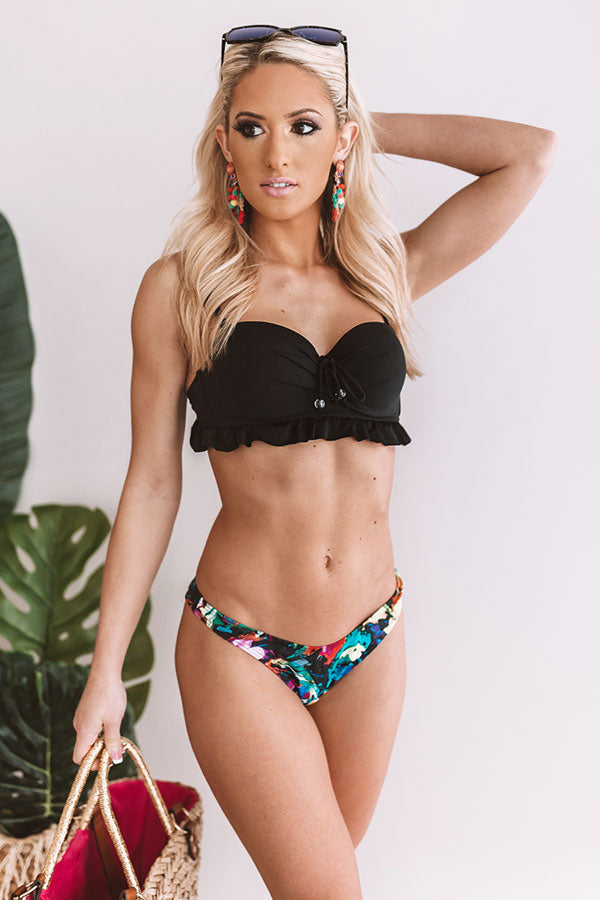 Mimosas Poolside Bikini Bottom in Black