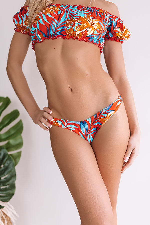 Mimosas Poolside Bikini Bottom in Red