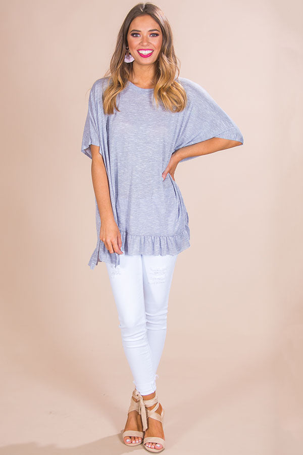 Southern Sweetness Shift Top in Navy