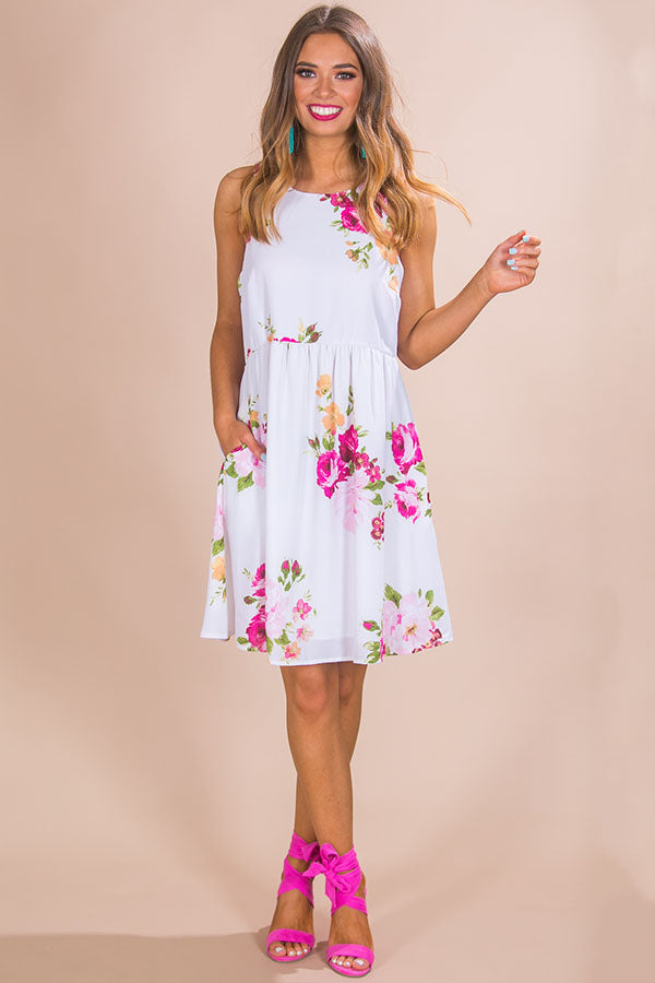 Floral Party Babydoll Dress • Impressions Online Boutique 6e755be29