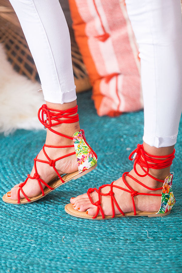 Shopping In Beverly Hills Lace Up Sandal