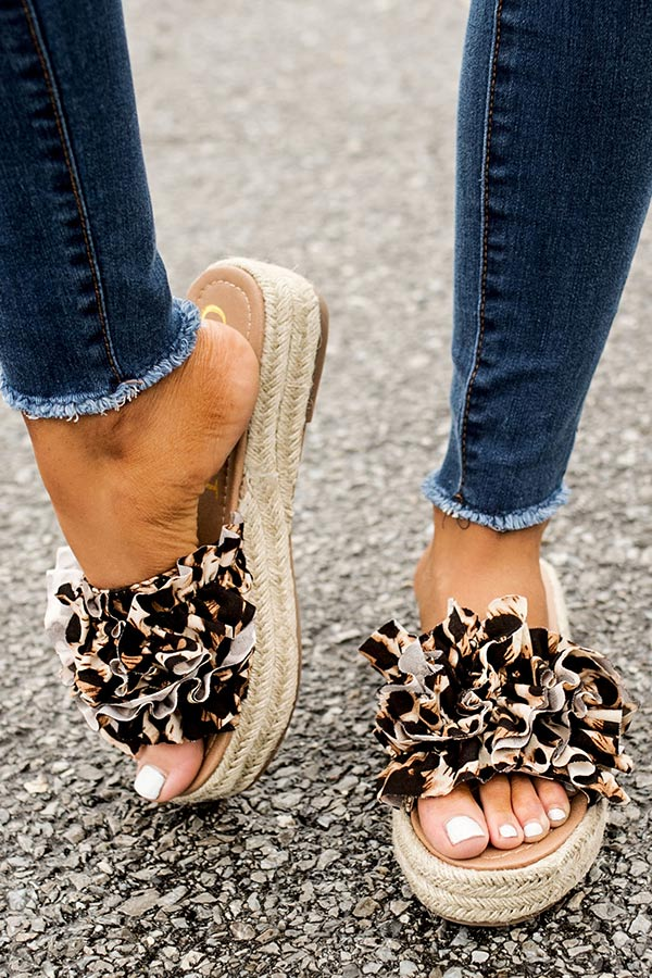 The Bermuda Leopard Sandal