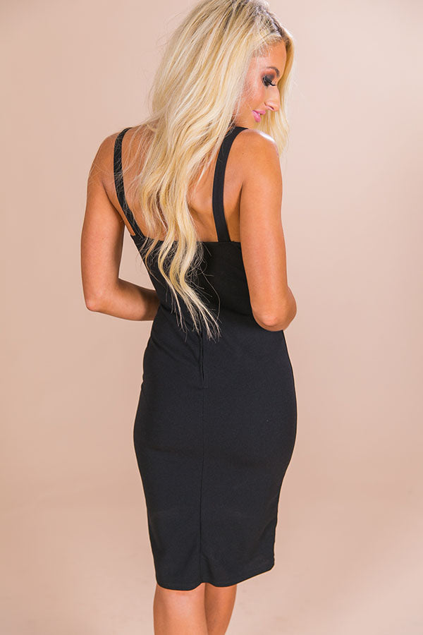 Bows and Cocktails Dress in Black