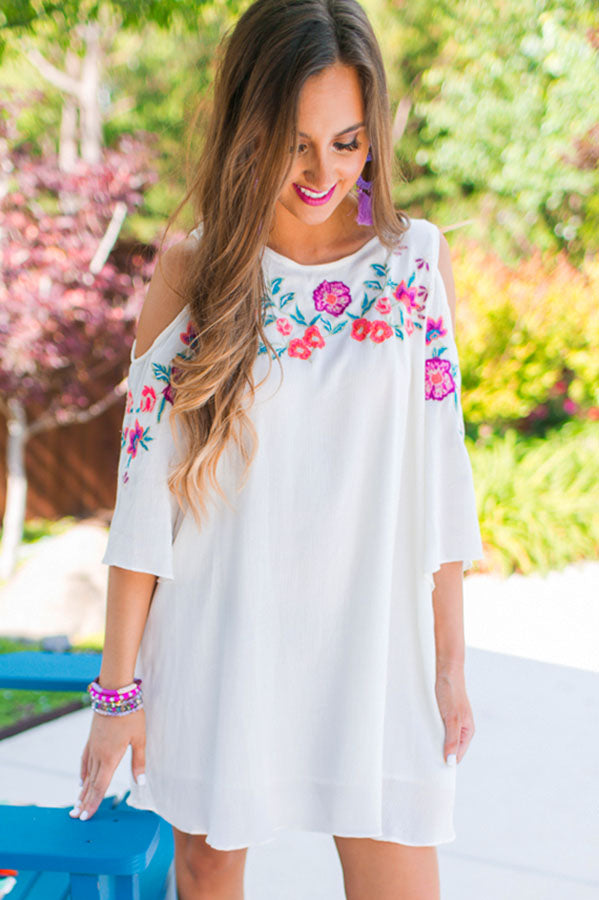 Key West Embroidered Shift Dress