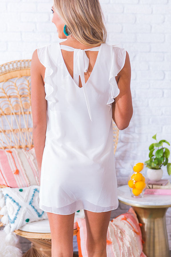 Pretty Pick Shift Dress in White