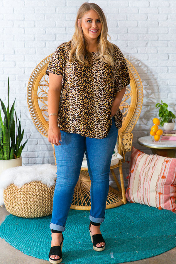 Picture Perfect Leopard Shift Top