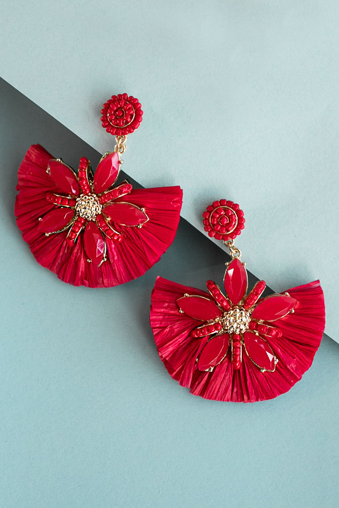 Total Fan-Girl Earrings In Red