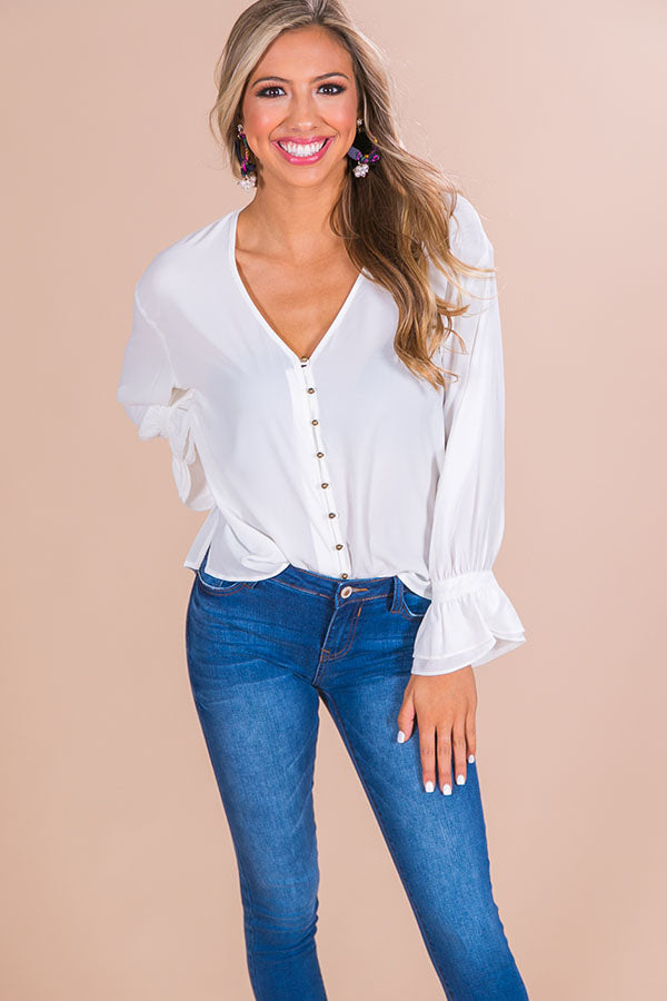 Margarita Date Shift Top in White