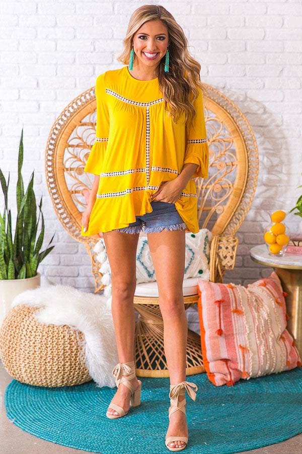 French Quarter Shift Top in Marigold