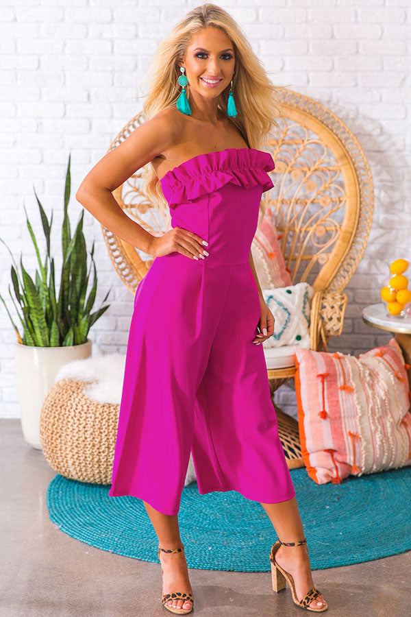 The Juniper Jumpsuit in Hot Pink