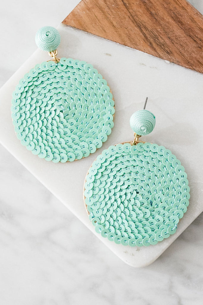 Around We Go Earrings In Mint