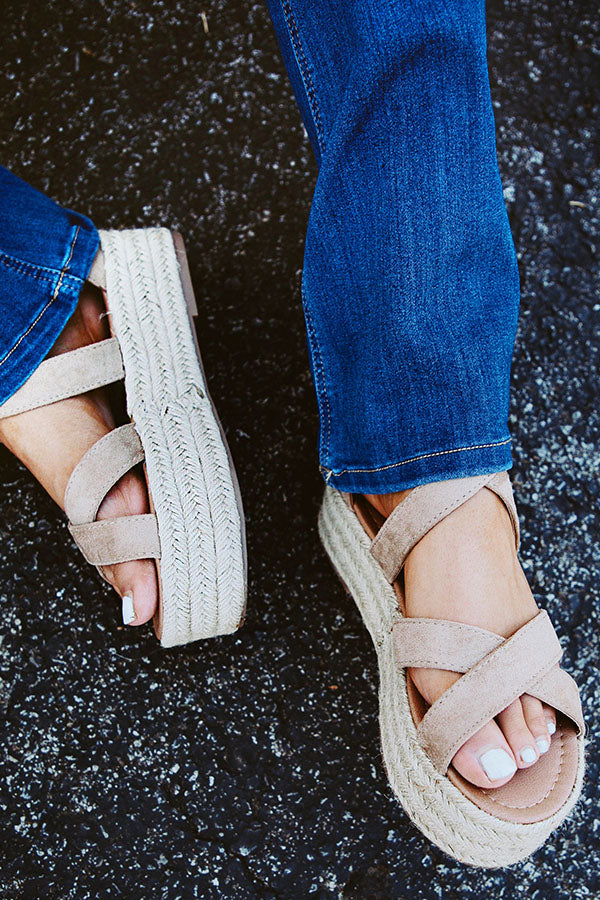 Catalina Island Espadrille In Taupe