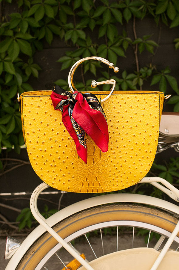 Shopping In The City Tote in Yellow