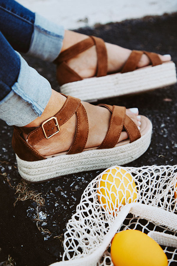 Catalina Island Espadrille in Brown
