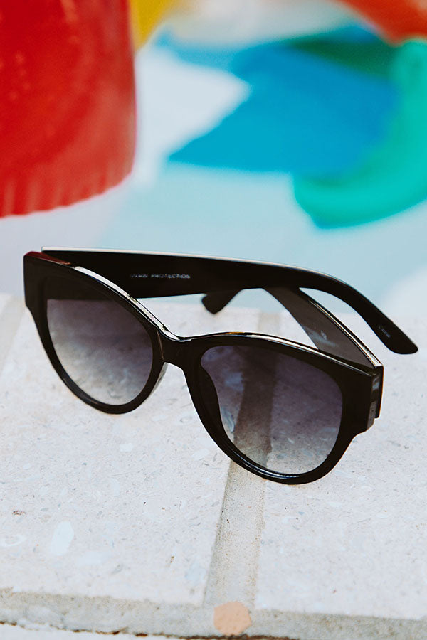 Cali Coastline Sunnies in Black Gloss