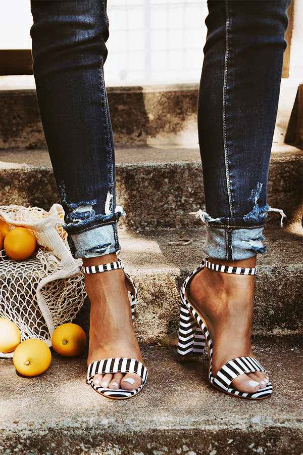 The Kate Stripe Heel