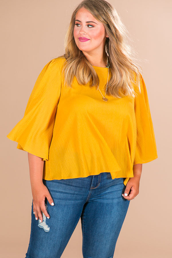 Heaven Sent Shift Top in Honey