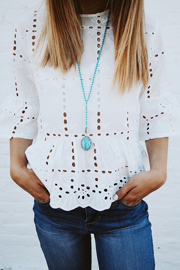 Bermuda Eyelet Shift Top