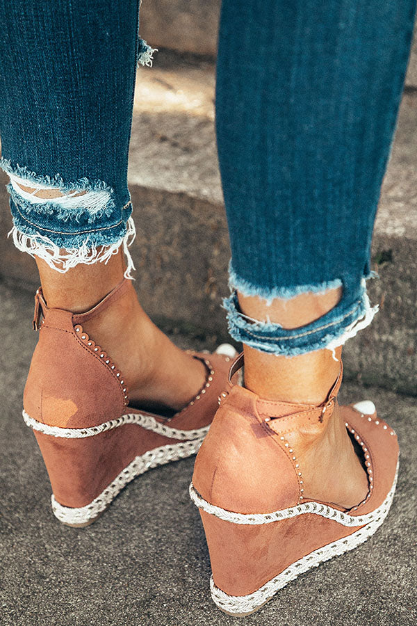 The Eva Wedge in Rustic Rose
