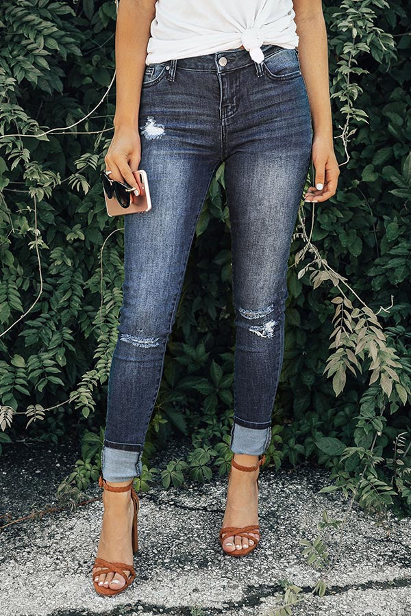Clearwater Beach High Waist Distressed Skinny