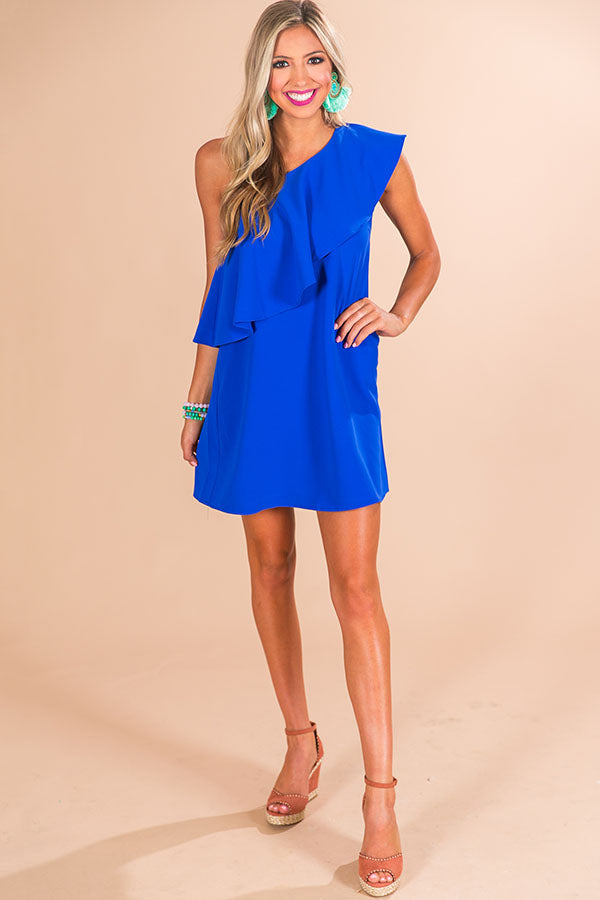 good biggest discount top-rated authentic Resort Life Shift Dress in Royal Blue • Impressions Online ...