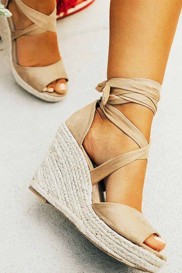 The James Faux Suede Wedge