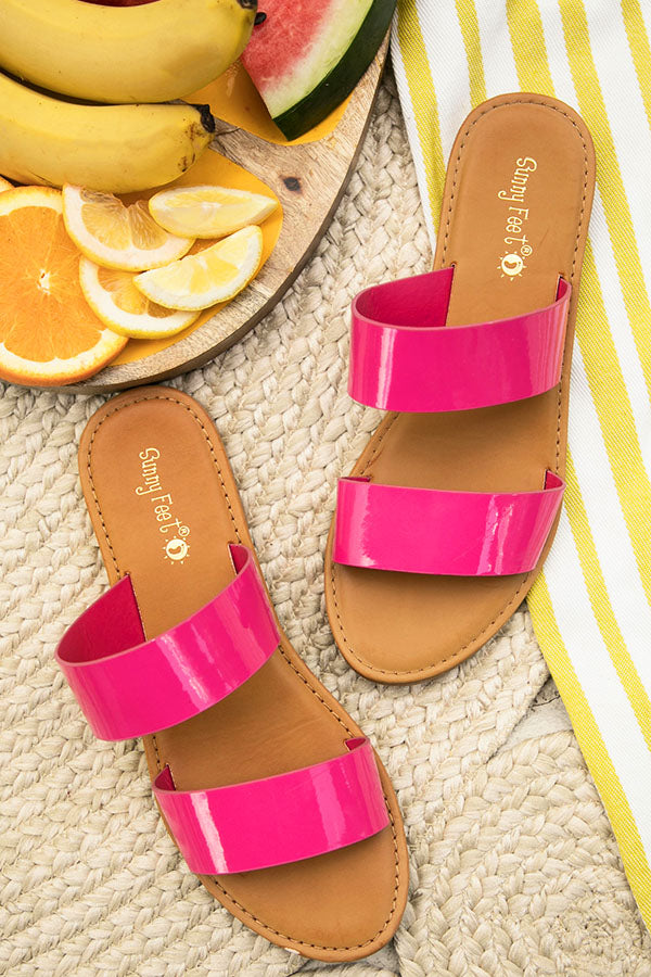 The Malibu Sandal in Hot Pink