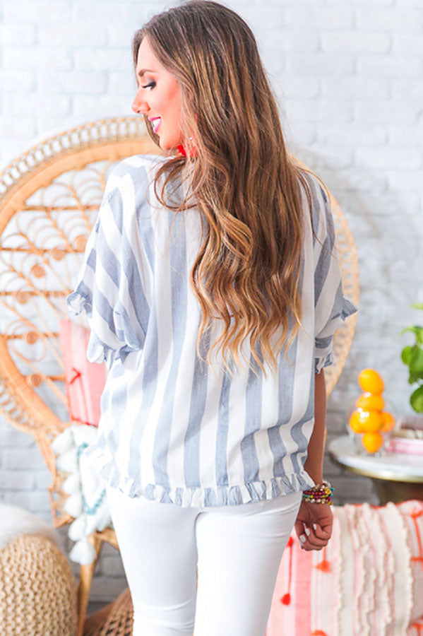 Cannes Chic Stripe Shift Top